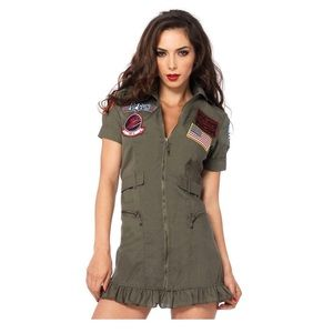 Top Gun Flight Dress Costume Leg Avenue Medium